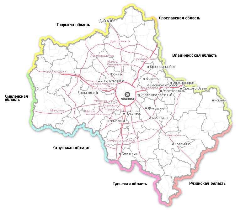 транспортная схема московской